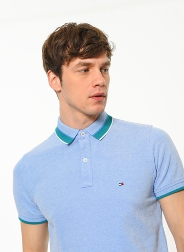 Tommy Hilfiger Polo Yaka Tişört Mavi